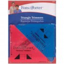 RULER .5 AND .25 SQ 2PC TRIANGLE TRIMMER