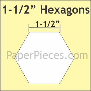 1-1/2 Hexagons Small Pack