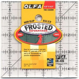 Olfa Frosted  4.5in SQ Quadrat